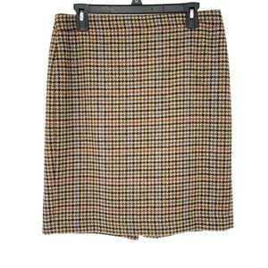 J crew texured wool herringbone pencil skirt sz 6